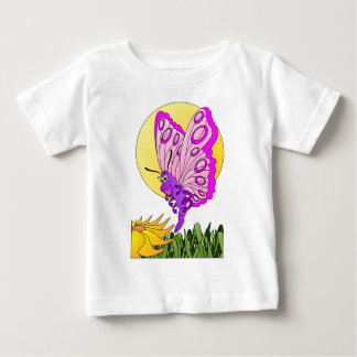 Dibujo animado de la mariposa playera de bebé
