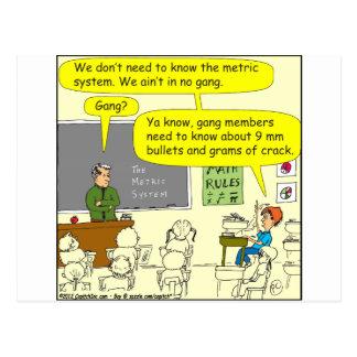 dibujo animado de la matemáticas de la sistema tarjetas postales