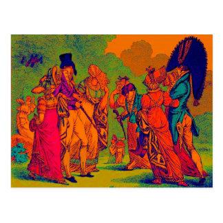 dibujo animado de la moda de los invisibles 1810 tarjeta postal
