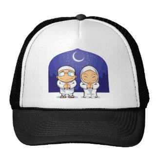 Dibujo animado de la mujer musulmán el Ramadán de  Gorras De Camionero