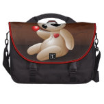 Dibujo animado de la muñeca del vudú en amor bolsas de portatil