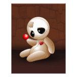 Dibujo animado de la muñeca del vudú en amor membretes personalizados