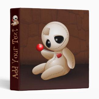 Dibujo animado de la muñeca del vudú en carpeta