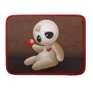 Dibujo animado de la muñeca del vudú en la manga d fundas para macbook pro