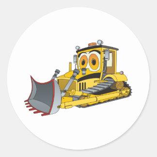 Dibujo animado de la niveladora pegatina redonda