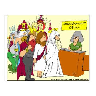 dibujo animado de la oficina del desempleo de 339 tarjetas postales