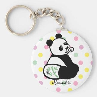 Dibujo animado de la panda del bebé llaveros