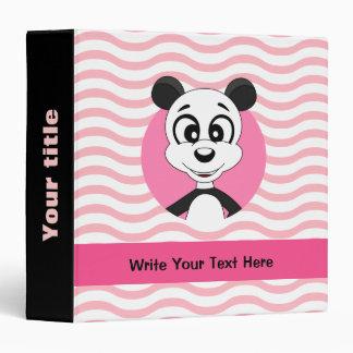 Dibujo animado de la panda en carpeta del modelo