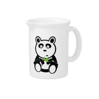 Dibujo animado de la panda jarras
