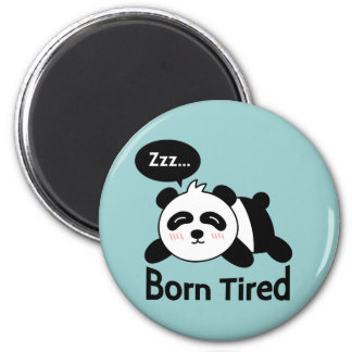 Dibujo animado de la panda linda el dormir imán redondo 5 cm