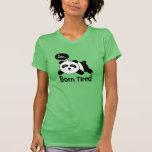 Dibujo animado de la panda linda el dormir camiseta