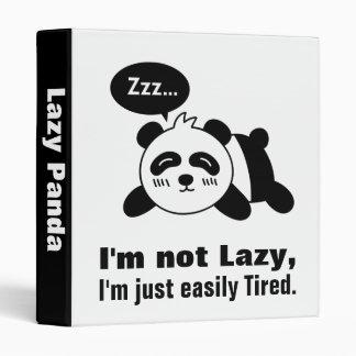 Dibujo animado de la panda linda y perezosa