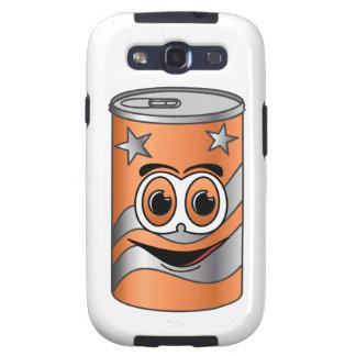 Dibujo animado de la poder de soda anaranjada galaxy SIII protector