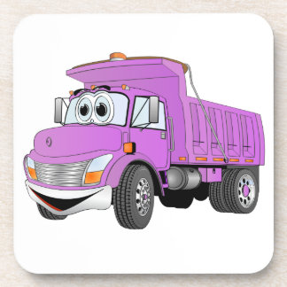 Dibujo animado de la púrpura del árbol del camión  posavaso