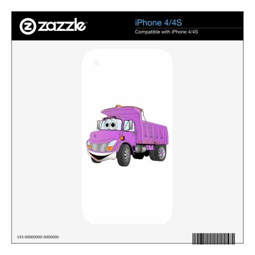 Dibujo animado de la púrpura del árbol del camión  iPhone 4S calcomanía