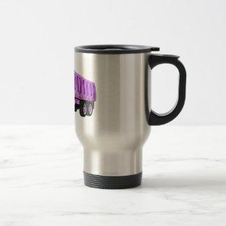 Dibujo animado de la púrpura del árbol del camión  taza de café