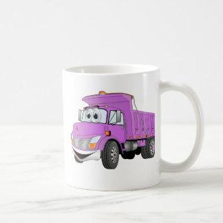 Dibujo animado de la púrpura del árbol del camión  taza