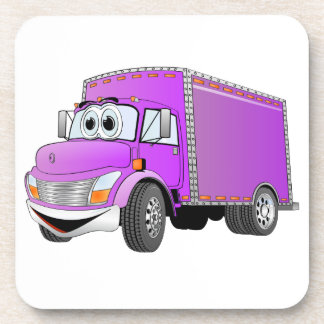 Dibujo animado de la púrpura del camión de reparto posavaso