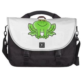 Dibujo animado de la rana bolsa de ordenador