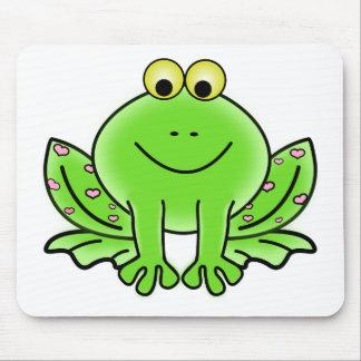 Dibujo animado de la rana alfombrilla de ratón
