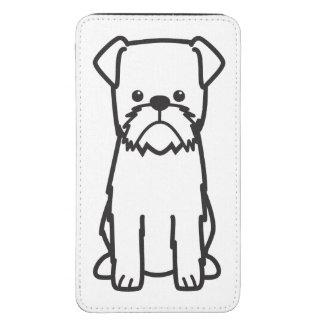 Dibujo animado de la raza del perro de Bruselas Bolsillo Para Galaxy S5