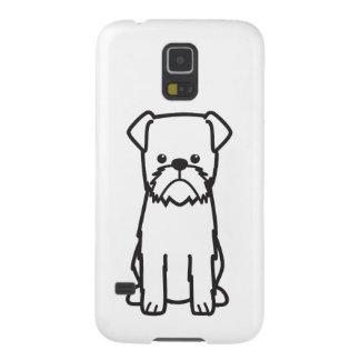 Dibujo animado de la raza del perro de Bruselas Funda De Galaxy S5