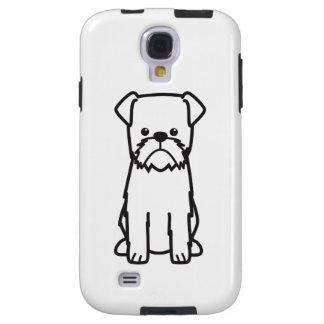 Dibujo animado de la raza del perro de Bruselas Funda Para Galaxy S4