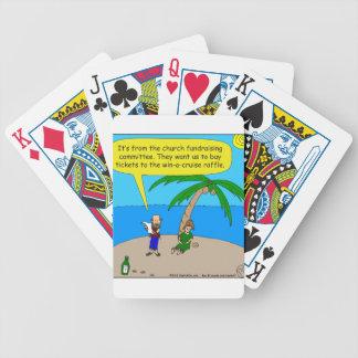 dibujo animado de la recaudador de fondos de 501 baraja de cartas