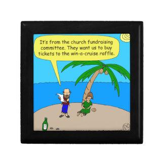 dibujo animado de la recaudador de fondos de 501 joyero cuadrado pequeño