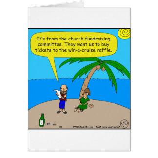 dibujo animado de la recaudador de fondos de 501 tarjeta de felicitación