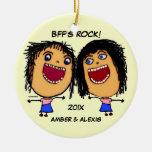 Dibujo animado de la roca de BFF Ornamentos De Reyes Magos