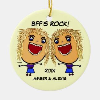 Dibujo animado de la roca de BFF Adorno De Reyes