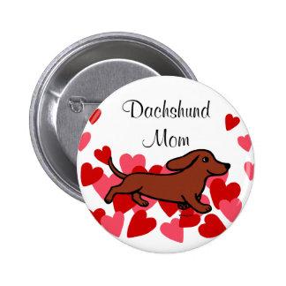 Dibujo animado de la tarjeta del día de San Valent Pin Redondo 5 Cm