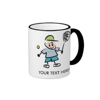 Dibujo animado de la taza del tenis de Personlized