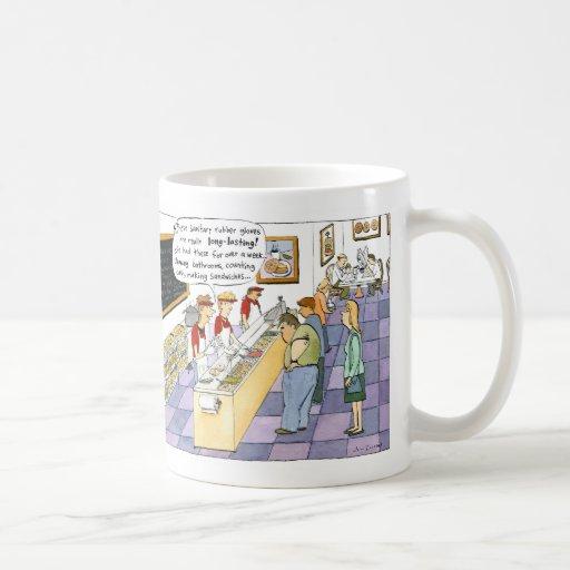 Dibujo animado de la tienda del panecillo taza