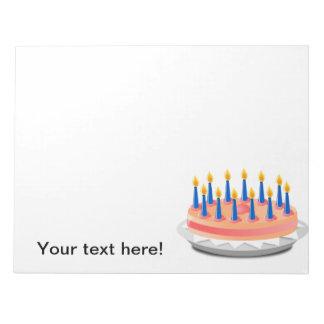Dibujo animado de la torta de cumpleaños blocs