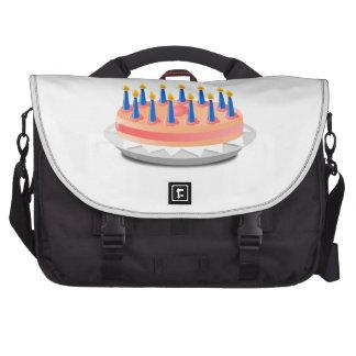 Dibujo animado de la torta de cumpleaños bolsas para ordenador