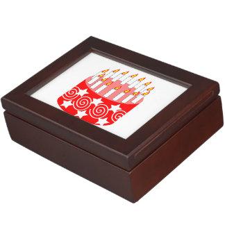Dibujo animado de la torta de cumpleaños caja de recuerdos