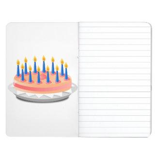 Dibujo animado de la torta de cumpleaños cuaderno grapado