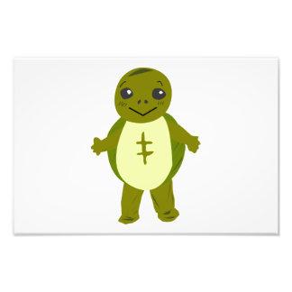 Dibujo animado de la tortuga del bebé arte con fotos