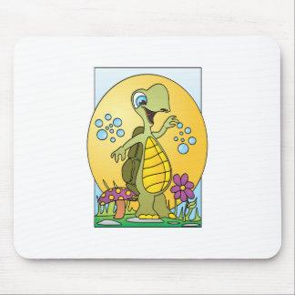 Dibujo animado de la tortuga tapete de ratones