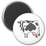 Dibujo animado de la vaca lechera imán para frigorífico
