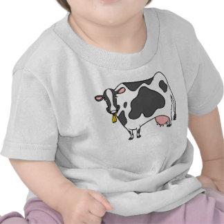 Dibujo animado de la vaca lechera camiseta
