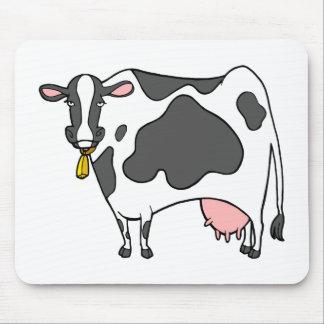 Dibujo animado de la vaca lechera tapetes de ratón