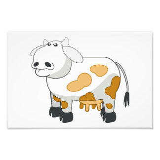 Dibujo animado de la vaca arte con fotos
