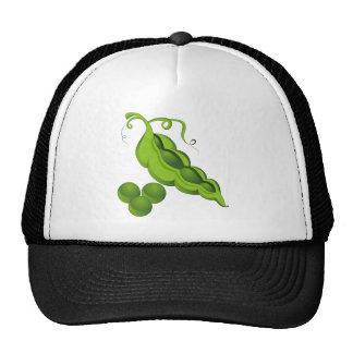 Dibujo animado de la vaina de guisante gorras