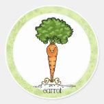 Dibujo animado de la zanahoria - pegatina del