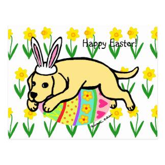 Dibujo animado de Labrador del amarillo del huevo