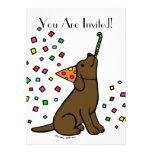 Dibujo animado de Labrador del chocolate del cumpl