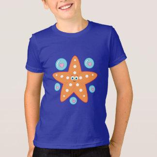 Dibujo animado de las estrellas de mar con las playera